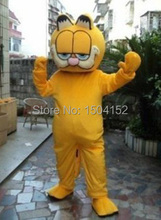 HOT Plush Garfield Adult size Mascot costume Cartoon character costumes Free shipping