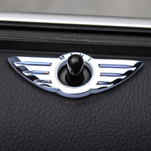 2PC Car-Styling Door Pin Lock Wing Emblem Badge Auto Stickers Decorative For BMW MINI Cooper S Clubman Except For Countryman