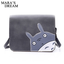 Mara's Dream 2017 Fashion Totoro Mini Handbag Women's PU Cartoon Flap Shoulder Bags for Girls Cat Messenger Bag Purses Bolsos(China)