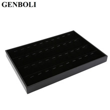GENBOLI Pendant Display Tray Rings Display Tray fashion Jewellery Organizer Show Case Jewelry Display Box Earrings Show Cases