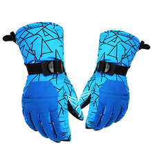 Adjustable Wrist Strap Men Ski Gloves Thermal Waterproof Winter Warm Outdoor Sports Snowboard Cycling Riding Skiing Gloves(China)