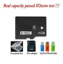 Free shipping - Real capacity memory cards 2GB 4GB 8GB class 4 16GB 32GB 64GB class10 micro original tf sd cards +USB Reader(China)