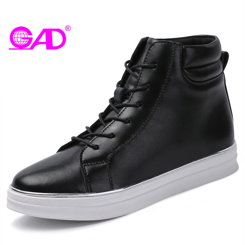 GAD Shoes Women 2017 Autumn/Winter Warm Plush Women Casual Shoes Classic White Comfortable Women Flats High Top Women Shoes<br>