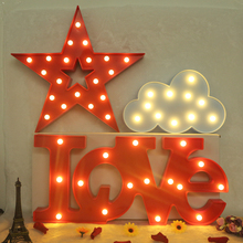 HOT SALE INS Cloud LOVE Sign LED Night Light Star 3D Wall Lamps Battery Operated Luminaria Desk Lamp For Kids Gift Decor(China)