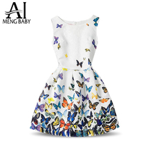 Fashion Girls Summer Dress 2017 Teenagers Girls Party Gowns Dress Age Size 6 7 8 9 10 11 12 Year Birthdays Princess Dresses