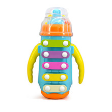 Amusing baby feeding bottles knock piano small toy early education plastic musical instruments Fun children's educational toys