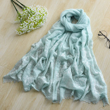 Japan Womens Linen Embroidered Scarfs Plain Oversized Pareo Beach Towel Viscose Cotton Shawls Wraps Bufanda With Fringe Tassel