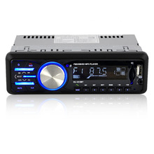 Car Audio Player Radio1010BT  Support FM MP3 Bluetooth Remote Control USB AUX Player Electronic Receiver Trendy Style Blue Light