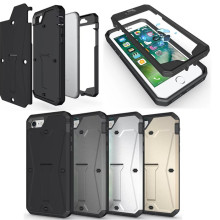Military Tanks Armour PC + TPU Hybrid Armor Stents Case Cover For iPhone7 iPhone 5 5S SE 6 6S 7 Plus Waterproof Shell Cases