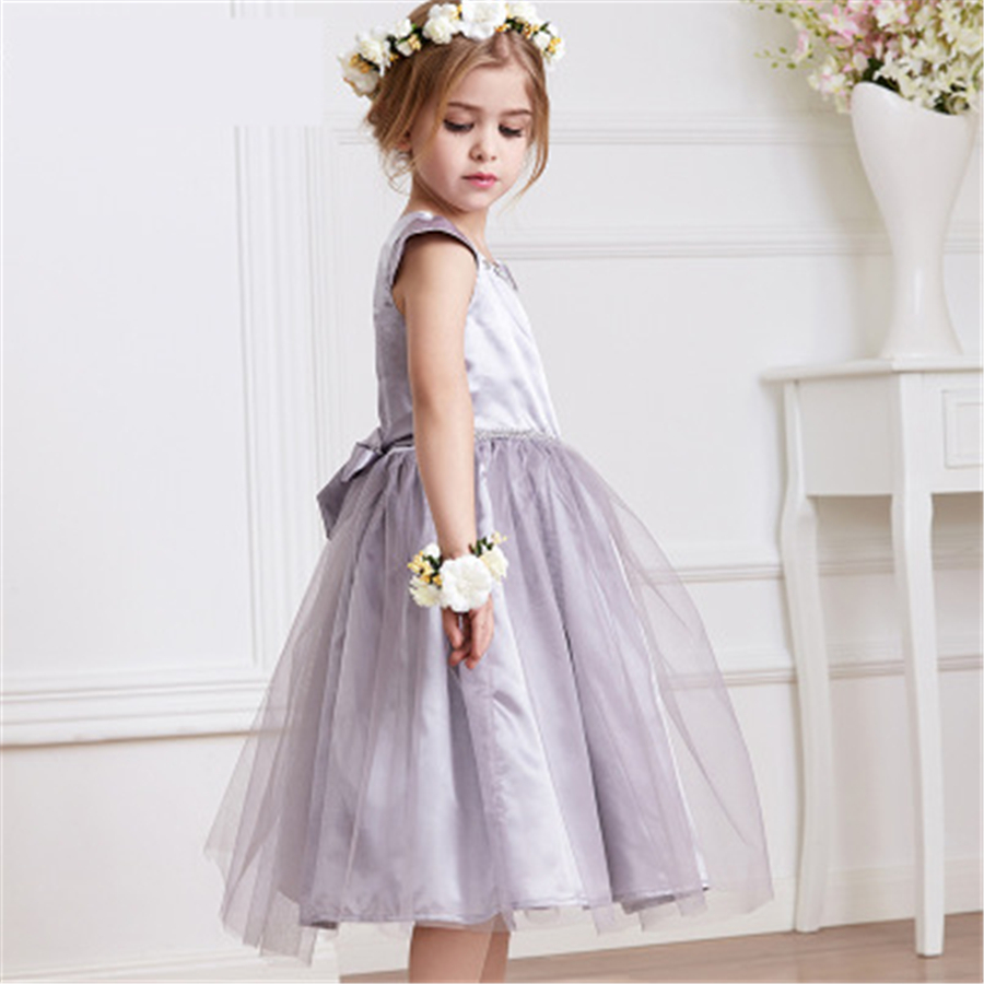 Teenage Girls Dresses For Party And Wedding Dress For Girl Kids Clothes Short Sleeve Girls Dress Children Summer Clothing 7C1158<br>