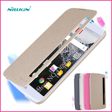 New Nillkin For LG K10 LTE K420N K430 K430ds F670 Case Hight Quality Smart Leather Phone Case Sleep Function For LG K10(China)