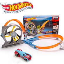 Hotwheels Roundabout track Toy Kids Cars Toys Plastic Metal Mini Hotwheels Cars Machines For Kids Educational Car Toy(China)