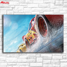 Printing wall picture cars 3 pixar animation Home Decor On Canvas Modern Wall Art Canvas Print Poster Canvas Painting Unframed(China)
