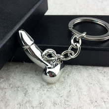 Male Genitalia Key Chain for Lovers Metal Sexy Dick Penis Keyring Individual Keychains Woman Gifts Man Cock Car Key Ring Holder(China)