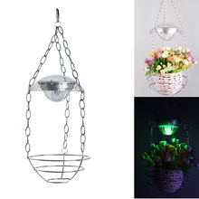Brand New Design Hanging Pendant Lamp Solar LED Light Held Potting Landscape Lighting for Outdoor Garden Veranda