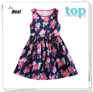 Girl-summer-dress-2017-NEAT-Belt-Belt-Printed-Cotton-Small-Round-Collar-Girl-Clothes-Casual-Fashion.jpg_640x640__
