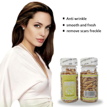 90pcs/bottle vitamin E witch hazel with snail anti wrinkle & crow's feet in 3 days essence for eye capsules Freckle Whitening(China)