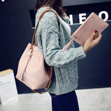 Fashion Women Messenger Bags With Tote Purse Leather Bead Tassel Pendant Ladies Shopping Travel Crossbody Shoulder Bag B