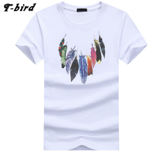 Buy T Bird 2018 Summer New Men T Shirt Short Sleeve O Neck Print Tshirt Fashion Brand Mens Cotton Cosy T-Shirt Male Tops 4XL for $6.83 in AliExpress store