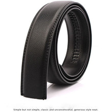 Men Belt 3.5cm Wide New PU Leather Automatic Belts Body Automatic Buckle Belt Strip No Buckle Only body belts