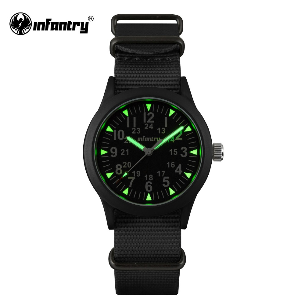 INFANTRY Mens Watches Tactical Army Luminous Watches Durable G10 Nylon Strap Hattori Japanese Quartz Watches Relojes Clock<br><br>Aliexpress
