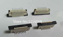 10Pcs Flexible Flat Cable Connector Vertical Type 1.0mm 8P FFC FPC Socket 1mm Pitch  8Pin