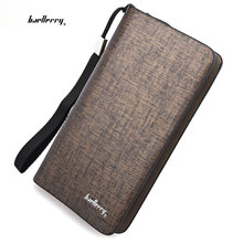 Luxury Long Design Casual Men Wallets Large Capacity Male Day Clutch Hand Bag Wrist Bags Brand Mens Purses Card Holder Cartera