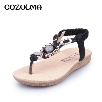 COZULMA 2017 Girls Summer Sandals Kids Sandals Children Rhinestone Princess Dress Shoes Girls Flip Flops Crystal Summer Shoes