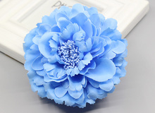 new design Fabric Blooming peony Flower Corsage Brooch woman Hair Decorations & Brooch wedding party Hair Clip Bridal Wedding