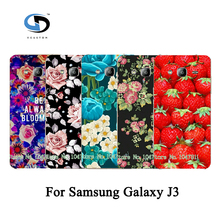 Colored Painted Rose Peony Beautiful Flower Floral Drawing Hard Plastic Case For Samsung Galaxy J3 Case Skin Shell Hood