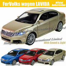 1:32 Scale Diecast Alloy Metal Luxury Car Model ForVW LAVIDA Collection Model Pull Back Toys Car With Sound&Light(China)