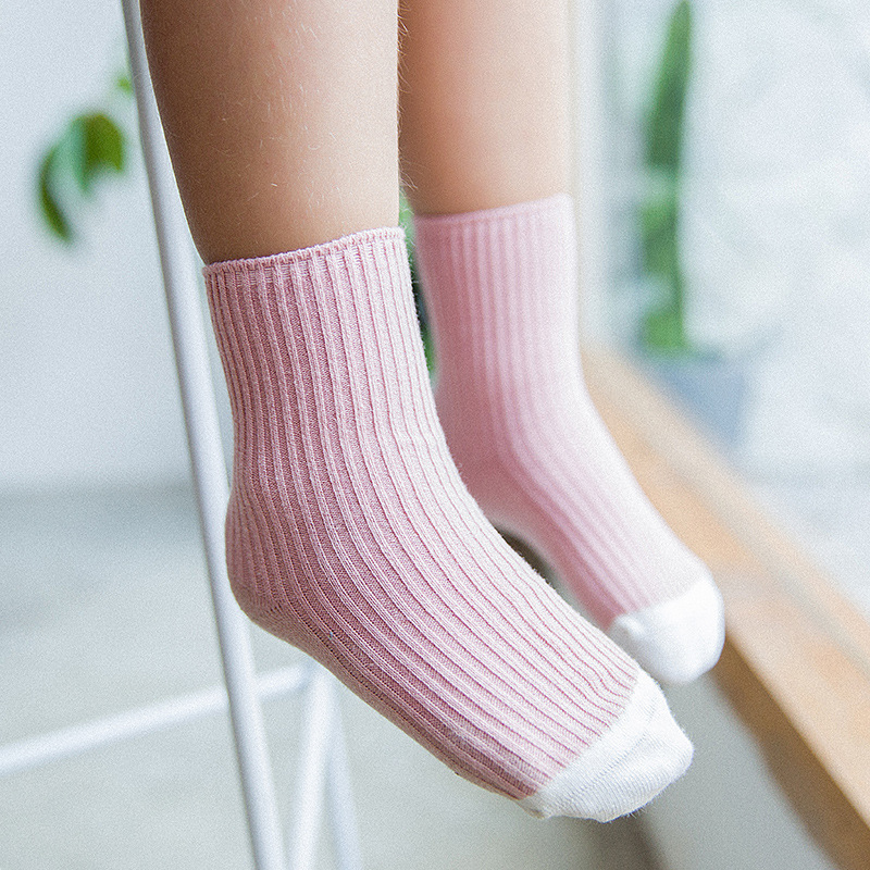 a0d3a172989 Autumn winter New Children s Color Matching Wool Tube Baby Socks Thick Tube  Cute Warm Cotton Soft Short Socks for Kids 1-12year