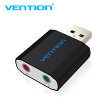 Vention External Sound Card USB To 3.5mm Jack Aux headset Adapter Stereo Audio sound card For Speaker PC Mic Laptop Computer PS4(China)