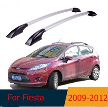 For Ford Fiesta 2009-2012  roof racks Aluminum roof boxes easy install Without drilling Luggage rack AUTO refit