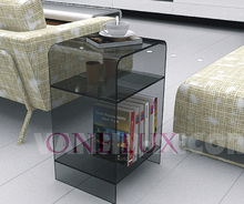 Multi-color Acrylic nightstand with magazine rack, Lucite bedside cabinet table,Plexiglass sofa tables