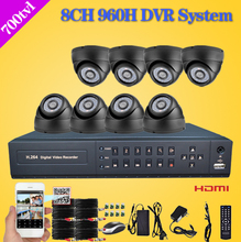 Home 8CH full 960H D1 recording CCTV Security DVR System 700TVL indoor dome Camera DIY Kit Color Video Surveillance set