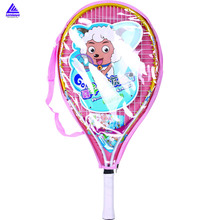 Kids 1x Tennis Racquet Plesant Goat and Big Big Wolf Children Sports Training Tennis Rackets Pink/Blue Tennis Racket Head Kids
