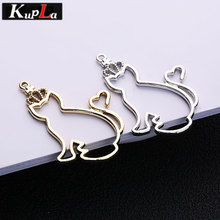 Buy Kupla Metal Crown Cat Charms DIY Fashion Handmade Charms Jewelry Making 2018 New Lovely Animal Cat Pendant Charms for $4.20 in AliExpress store