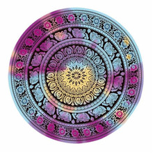 Ouneed Towel cushion round Beach Pool family shower towel home towel blanket Tablecloth Yoga mat*30