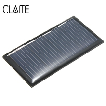 CLAITE 2V 0.18W 90MA Mini Solar Panel Polycrystalline Silicon DIY Solar Cells Solar Module Kits For Charging Cellphone Battery(China)