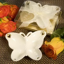 (DHL,UPS,Fedex)FREE SHIPPING+50pcs/Lot+Excellent Ceramic Butterfly Candy Dish Wedding Candy Tray Favors Party Accessories