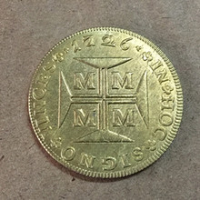 1726 Brazil 10 000 Reis -Joao V Copy Gold coin(China)