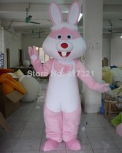 adult easter bunny costume pink rabbit mascot costume