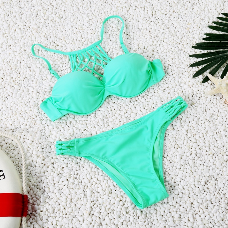 2017 Hot Women Push Up Bikini Set Swimsuit Soft Bathing Suit Summer Sexy Mesh Bikini Black Green High Qulity Swimwear FD81621<br><br>Aliexpress