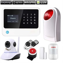 Original G90B WIFI gsm alarm system Touch Keyboard IOS Android APP 433MHz Home Burglar Wifi/GSM/GPRS/SMS Alarm System