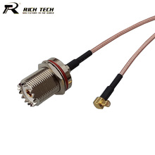 Hot RF Connector Coaxial Cable UHF Female Switch MCX Male Right Angle RG316 Pigtail Cable RF Coaxial Cord Assembly 15CM RF Wire(China)