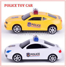Top Quality 2017 Simulation New Mini Model Police Car Automobiles Machine Model boy Toys Gift(China)