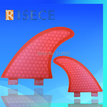 Red FCS fins fiberglass surf fins honeycomb FCS surf board fin G5 size surfing fin(China)