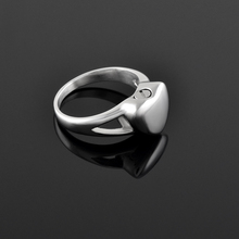 IJZ9016 Heart Urn Charm Ring 316L Stainless Steel Ashes Holder Keepsake Memorial Locket Cremation Ring for Women or Men(China)