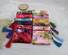 Wholesale10pcs Chinese Handmade Vintage Silk Coin Purse Jewelry Pouch Gift Bag(China)